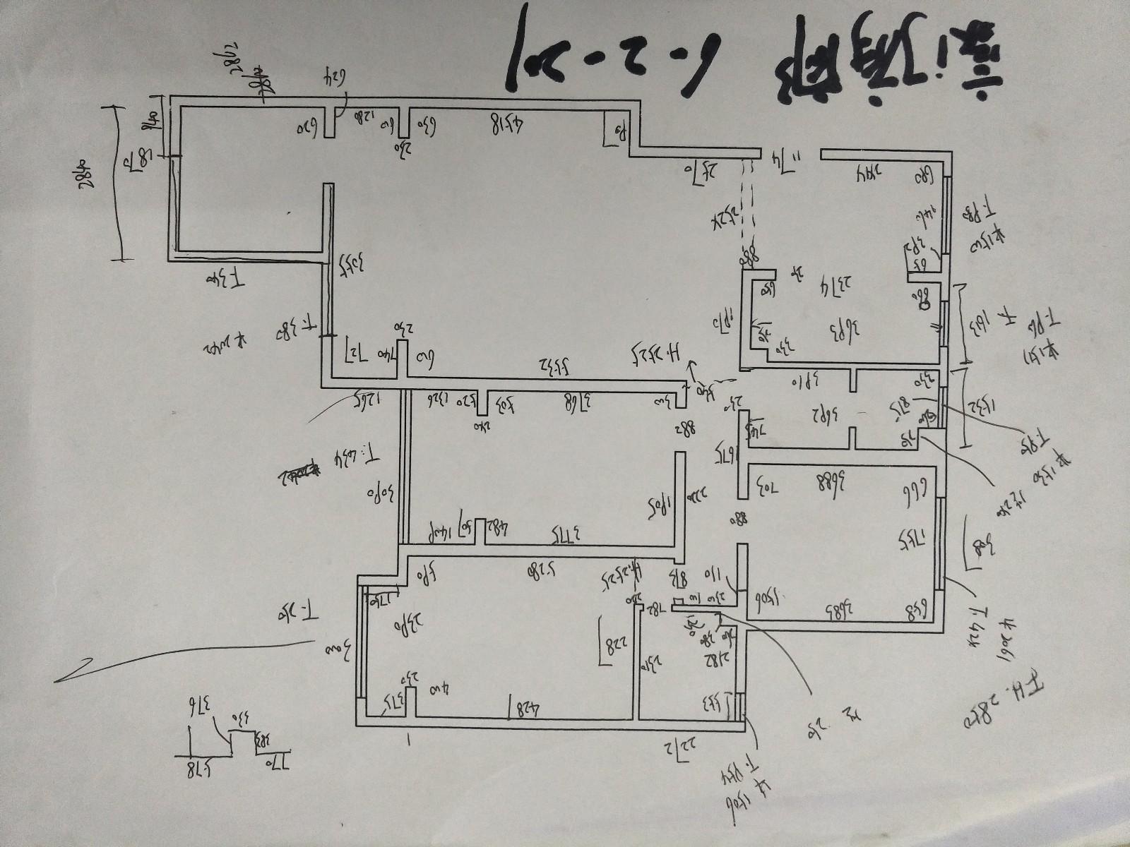 平面量房手绘图