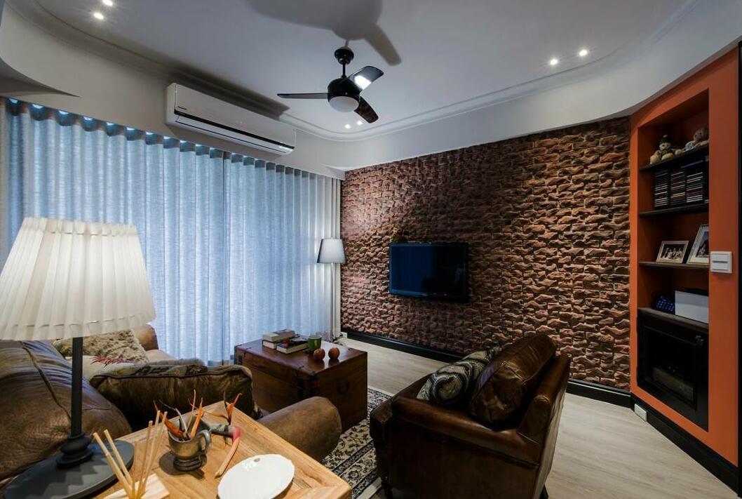 120㎡ 三室两厅 美式风格