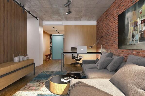 84㎡ 二室二厅 现代风格