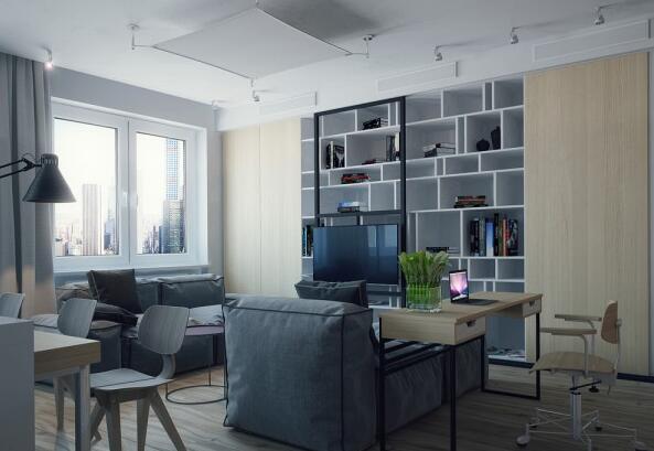 102㎡ 三室一厅 现代风格