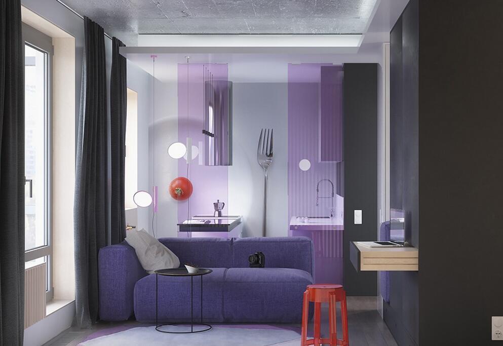 71㎡ 两居室 现代风格