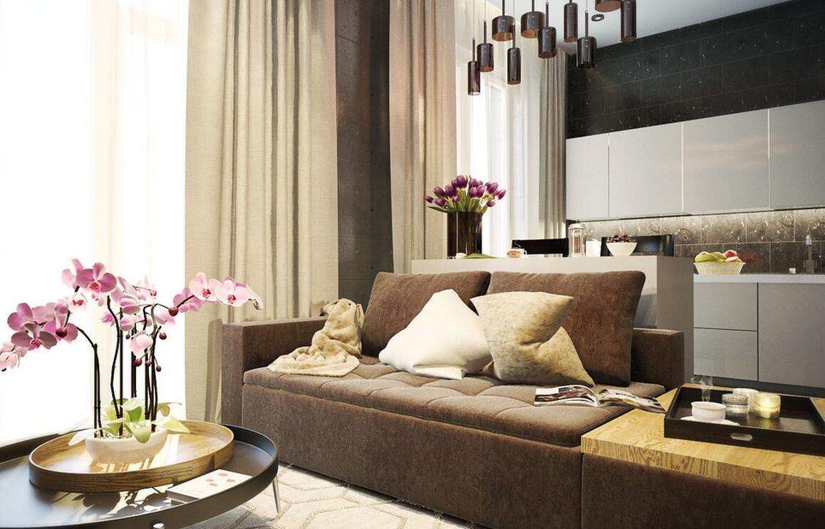 120㎡ 3室1厅 现代风格