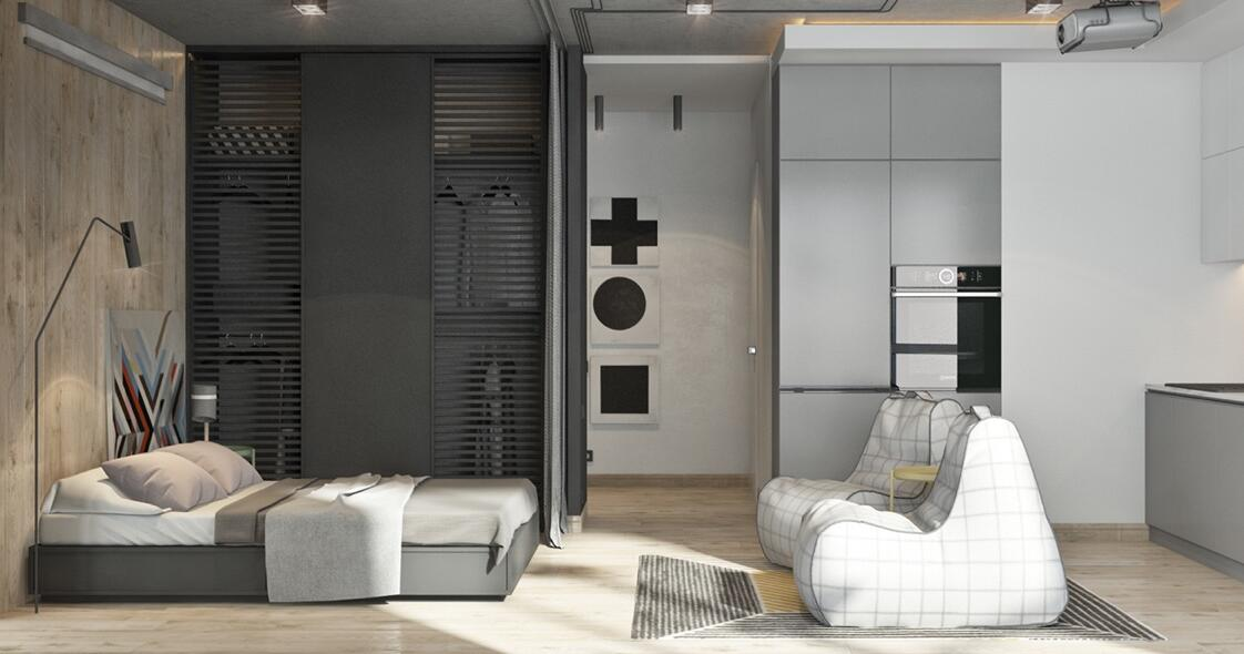 94㎡ 二室一厅 简约风格