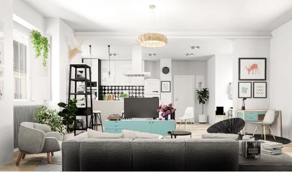 123㎡ 三室一厅 现代风格