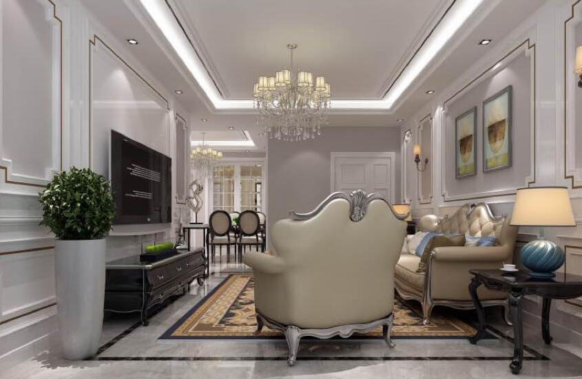 125㎡ 2室1厅 新古典风格