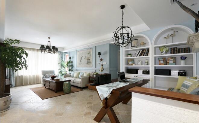 152㎡ 三室一厅 美式风格