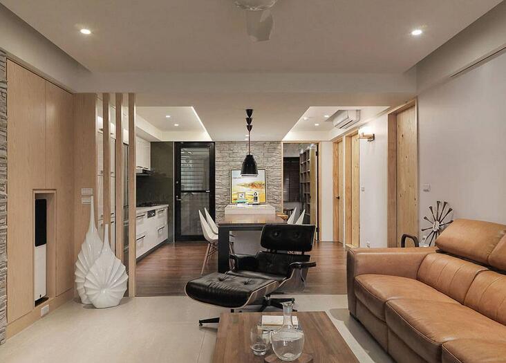 100㎡ 3室2厅 简约风格
