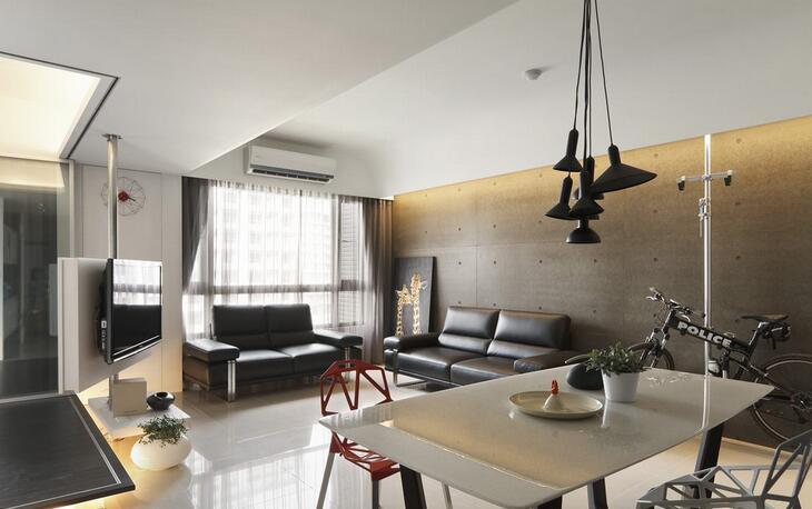 88㎡ 2室2厅 现代风格