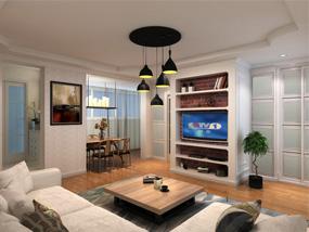 60㎡ 2室1厅 现代风格
