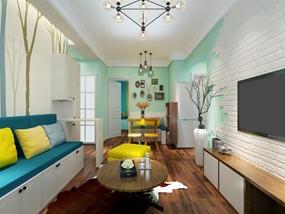 76㎡ 2室1厅 现代风格