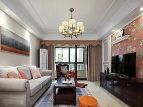 136㎡ 三室二厅 美式风格
