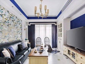 132㎡ 三室一厅 地中海风格