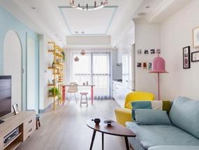 93㎡ 二室一厅 现代风格