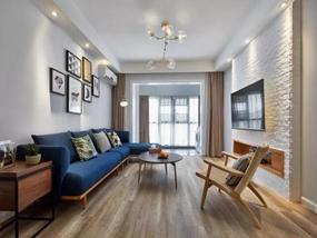 78㎡ 二室一厅 现代风格