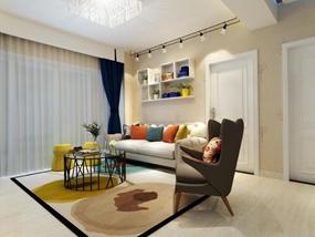 90㎡ 二室一厅 现代风格