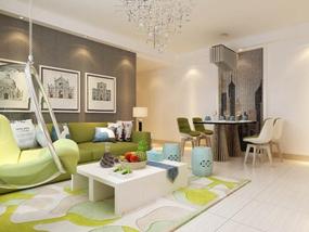69㎡ 二室一厅 现代风格