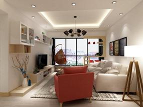 100㎡ 二室二厅 现代风格