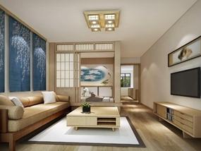 68㎡ 三室二厅 日式风格