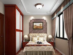 100㎡ 二室一厅 中式风格