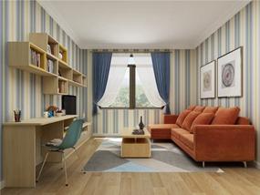 50㎡ 二室一厅 现代混搭
