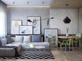 110㎡ 三室二厅 北欧风格