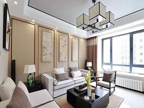 93㎡ 三室二厅 新中式风格