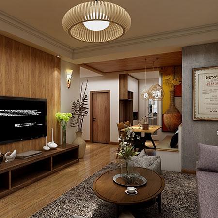 88.40㎡ 二室一厅一厨一卫 东南亚